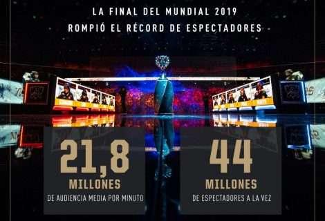 La final de Worlds 2019 consiguió 21,8 millones de espectadores medios por minuto