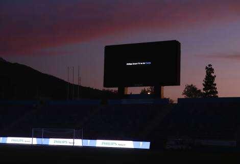 Philips renovó las pantallas del estadio San Carlos de Apoquindo