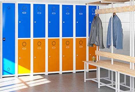 Tipo de taquillas para vestuarios, según la web mobenka.com