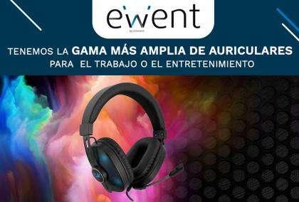 Ewent propone su gama de auriculares para encontrar el regalo de esta Navidad