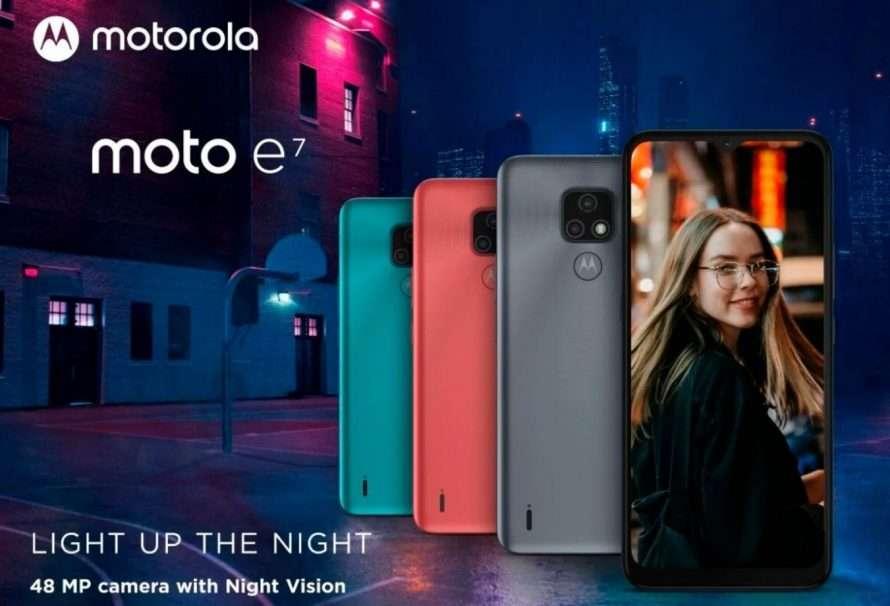 Moto e7 con doble cámara es lo nuevo de Motorola