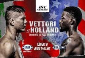 """UFC Figth Night: debut de """"La Jaula"""" y duelo entre Vettori vs Holland"""