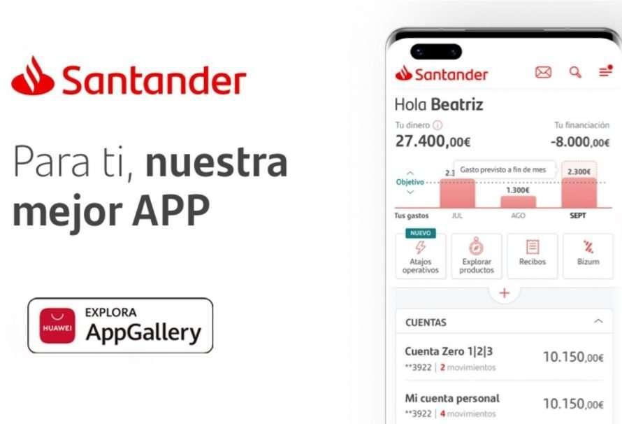 AppGallery: ya se encuentra la app Santander