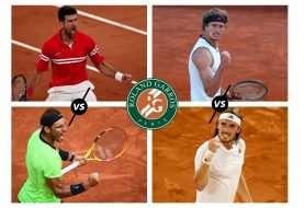 Semifinales de Roland Garros 2021: dos profesores y dos alumnos aventajados