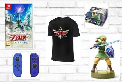 Mercancía de Legend of Zelda Skyward Sword HD en julio 2021
