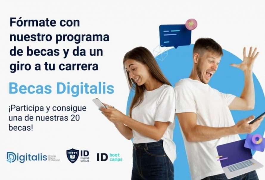 ID Digital School y Digitalis dan becas para la formación digital