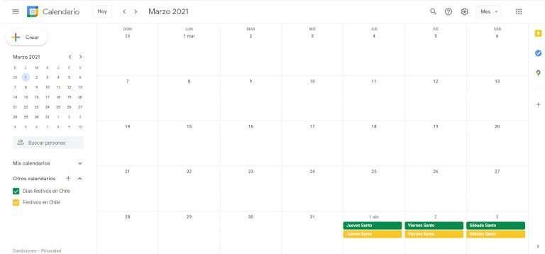 apps para organizarse - google calendar
