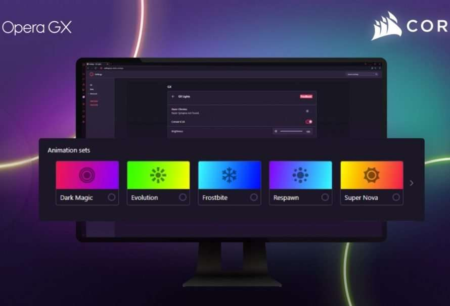 Opera GX integra CORSAIR iCUE y da color a la navegación